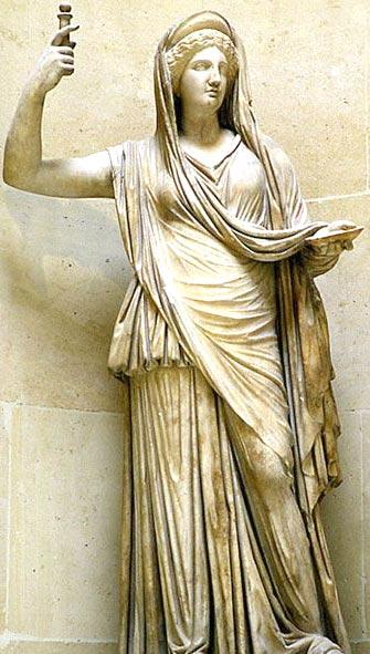 เฮร่า (Hera) หรือ จูโน (Juno) ราชินีของเทพธิดา