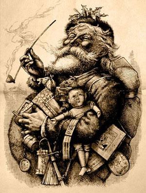 ภาพ ซานตาครอส โดย Thomas Nast