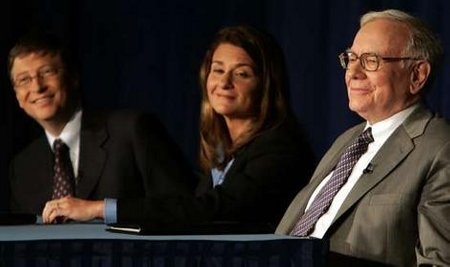 Warren Buffett and Bill and Melida Gates