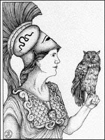นกฮูกเป็นนกคู่ใจของเทพีอาเธน่า