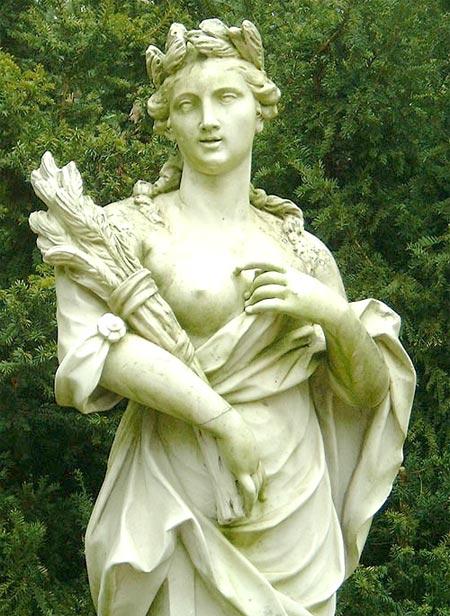 ดีมิเตอร์ (Demeter) ตามชื่อกรีก หรือ ภาษาโรมันว่า ซีริส (Ceres)
