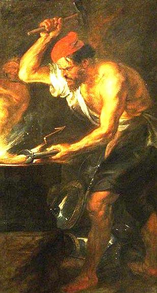 เฮฟเฟสตุส (Hephaestus) หรือ วัลแคน เทพแห่งไฟ โลหะ และการช่าง