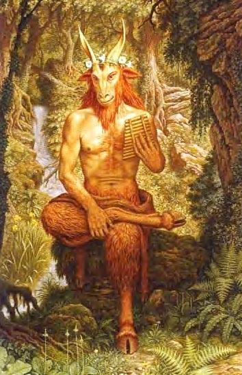 แพน (Pan) เทพแห่งทุ่งโล่ง และดงทึบ หรือ เทพแห่งธรรมชาติ
