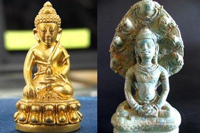 """พระไภษัชยคุรุไวฑูรยประภาตถาคต แพร่หลายในไทย ในรูปของ """"พระกริ่ง"""""""