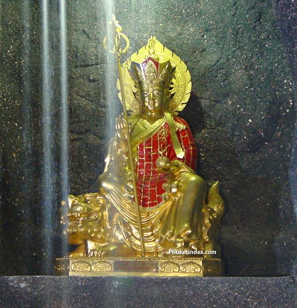 พระกษิติครรภ์โพธิสัตว์ ณ ศาลเจ้าซำเซจูฮุด บริเวณเขารัง จังหวัดภูเก็ต
